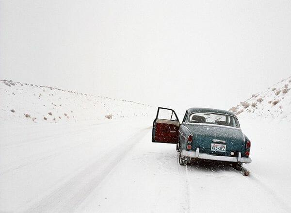 Nich Hance McElroy voiture dans la neige