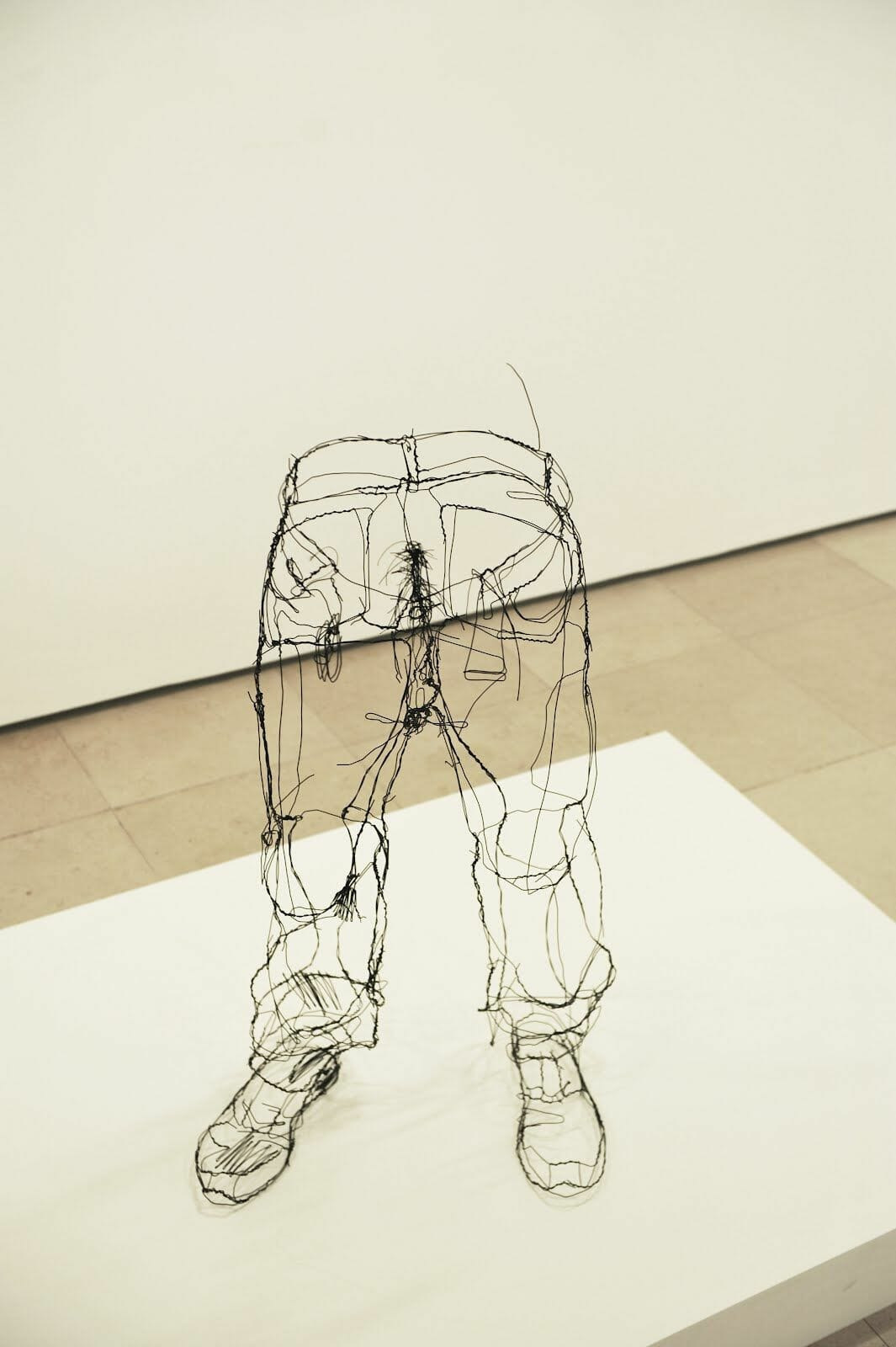 David Oliveira fil de fer pantalon