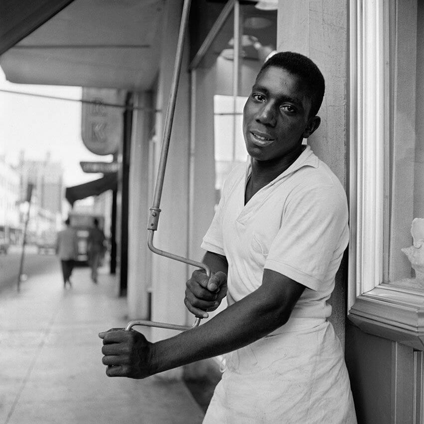 portrait d'un travailleur américain