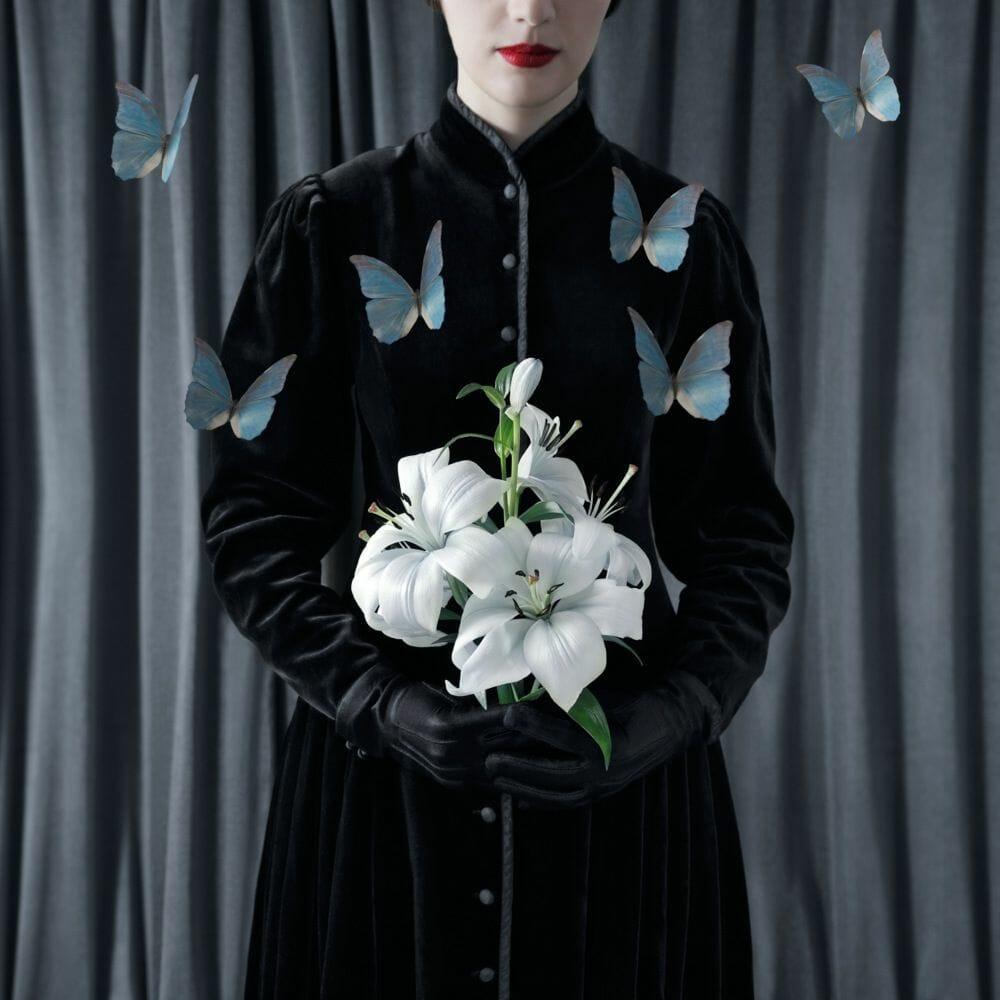 bouquet de fleur photomontage