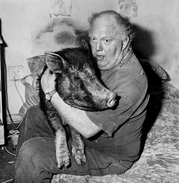 Brian-with-pet-pig-1998