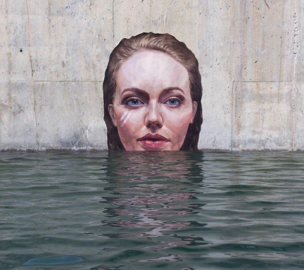 portrait street art hula