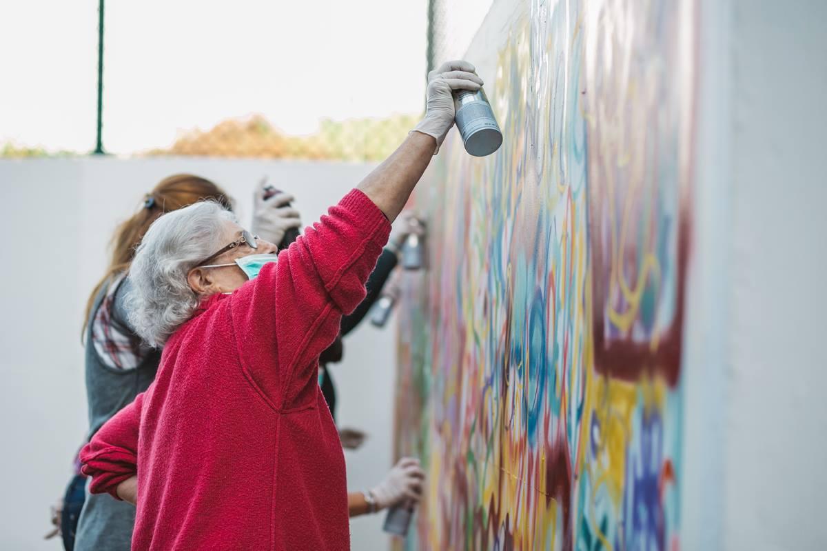 Mamie street art, lata 65