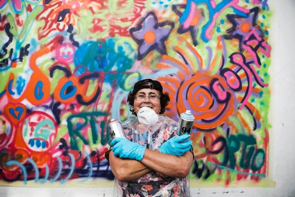 membre du collectif street art portugais lata 65
