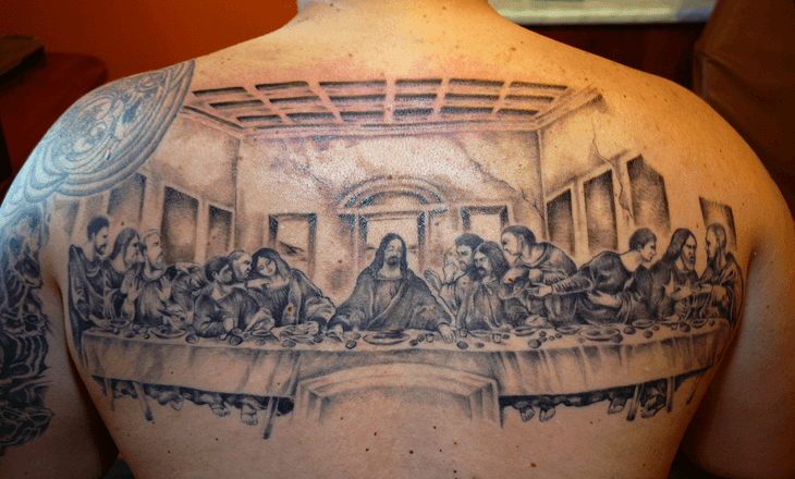 La céne, tatouage religieux
