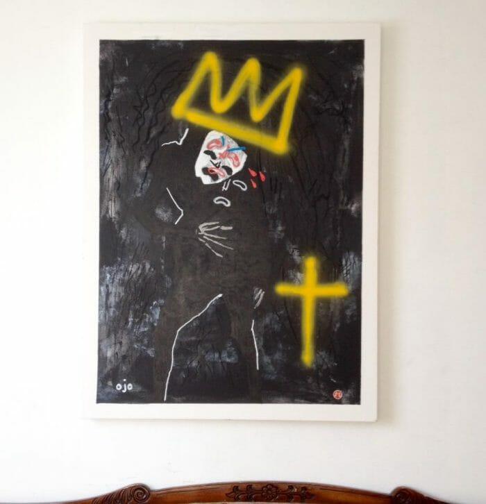 OJO, un artiste protéiforme qui peint avec sa mauvaise main 4