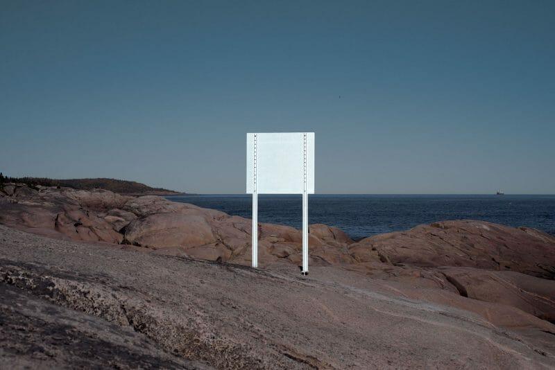 panneau blanc photographie