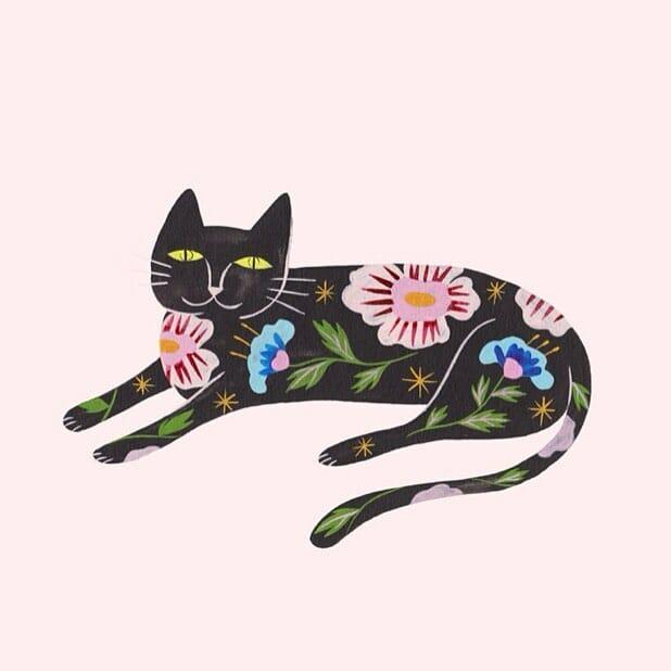 Estée Preda dessin de chat