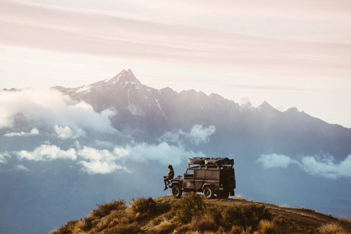 defender road trip sur la montagne