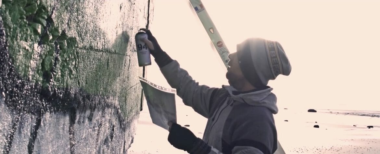 street art sur bunker Blesea
