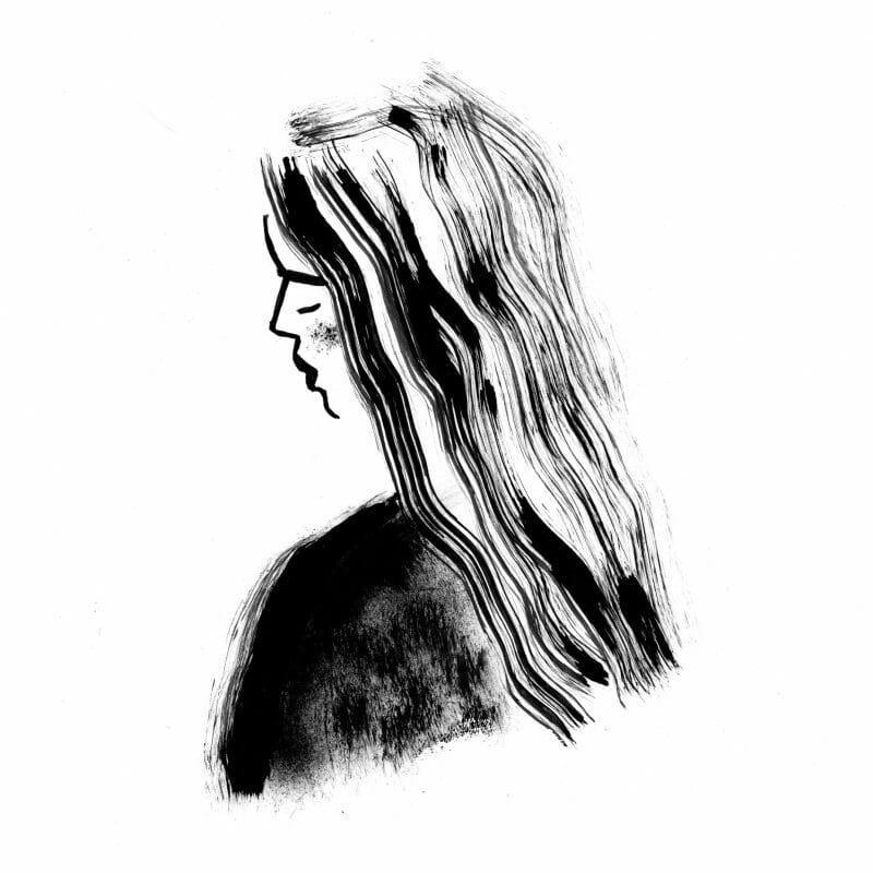 dessin fille par Thibaut Rassat