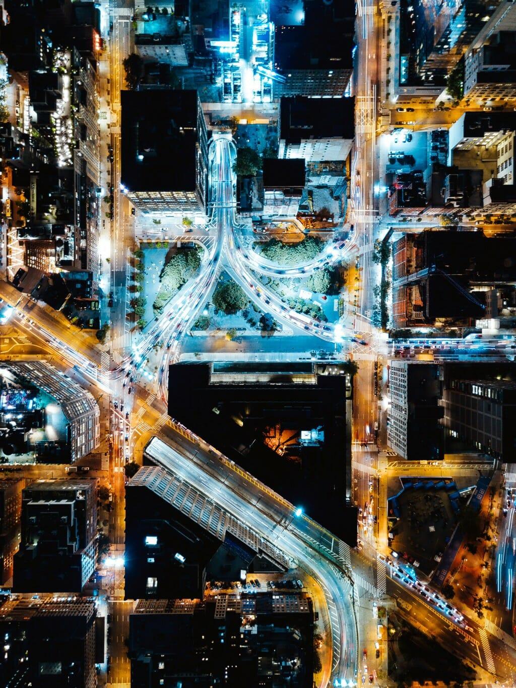 new york vue par un drone