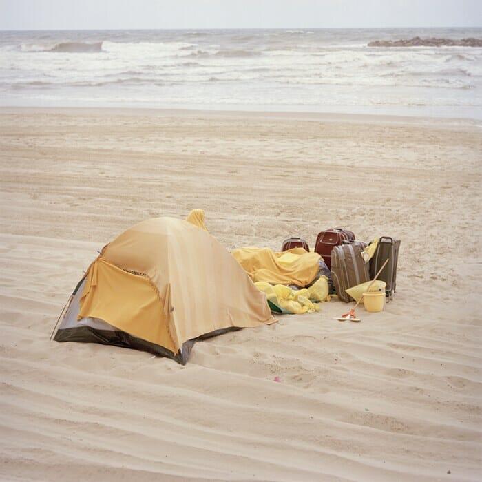 camper sur la plage