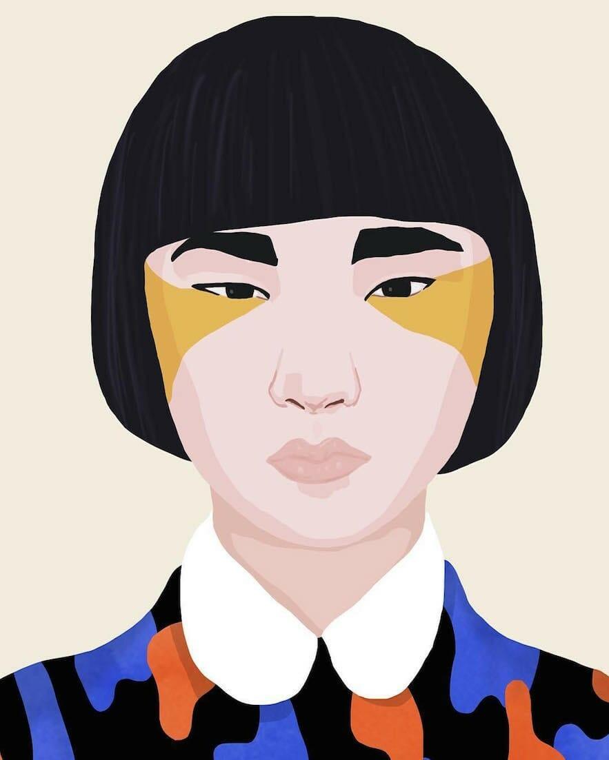 Petra Eriksson illustre des portraits de femmes incroyablement colorés 3