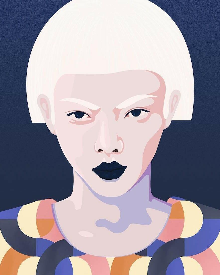 Illustration de visage par Petra Eriksson