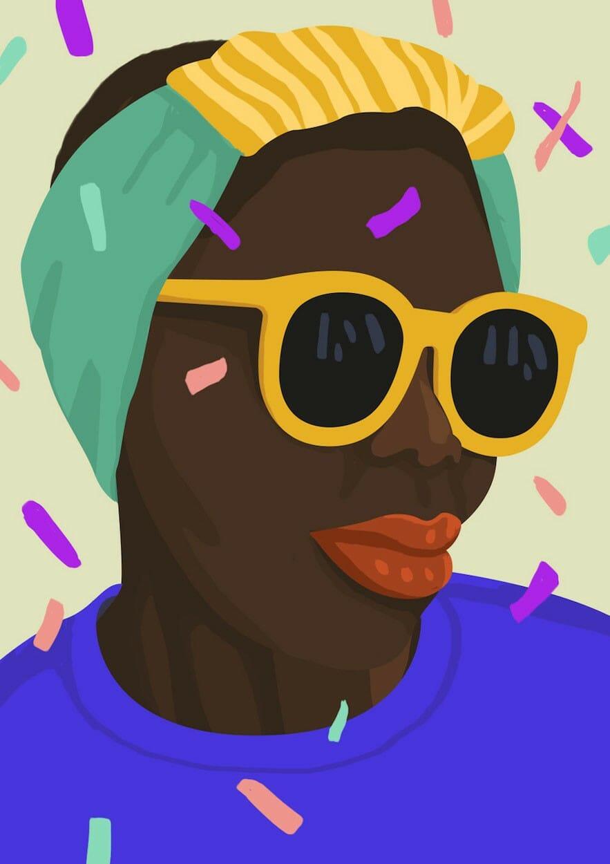 Petra Eriksson illustre des portraits de femmes incroyablement colorés 2