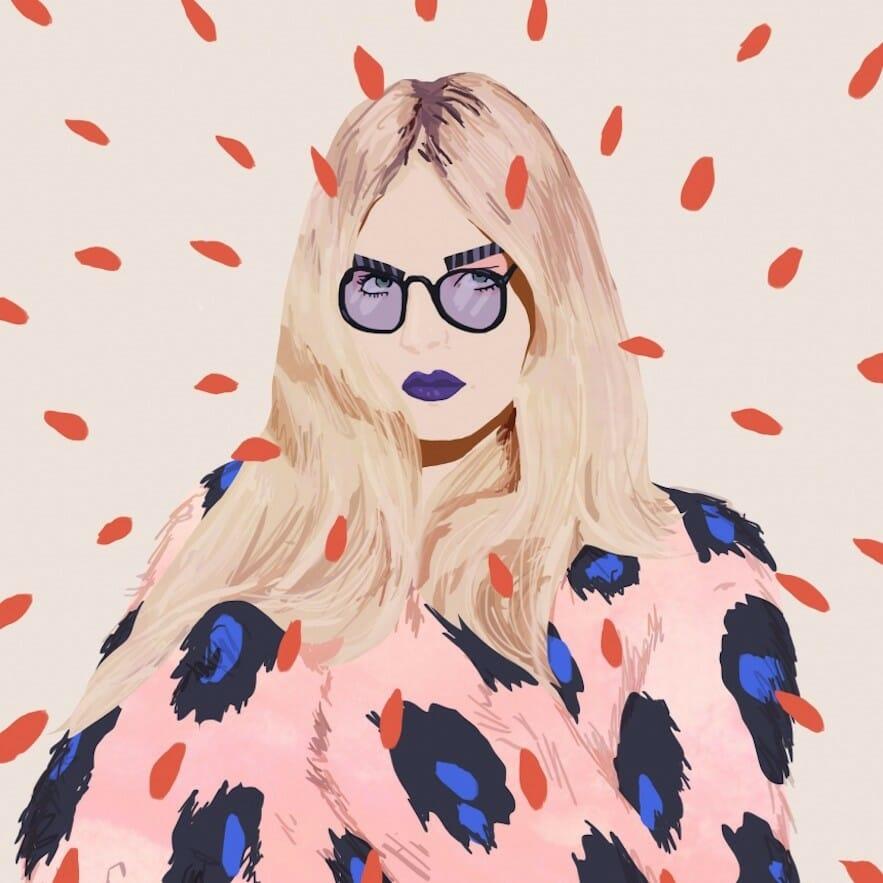 portrait pop illustration par Petra Eriksson