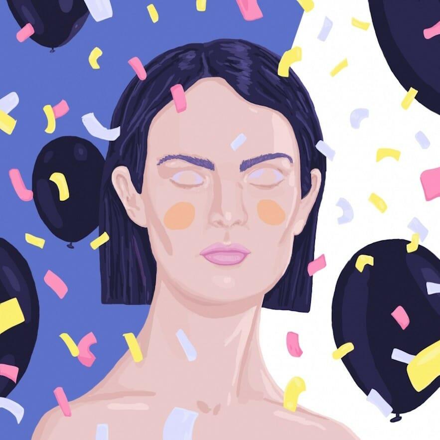 Portrait colorée illustration