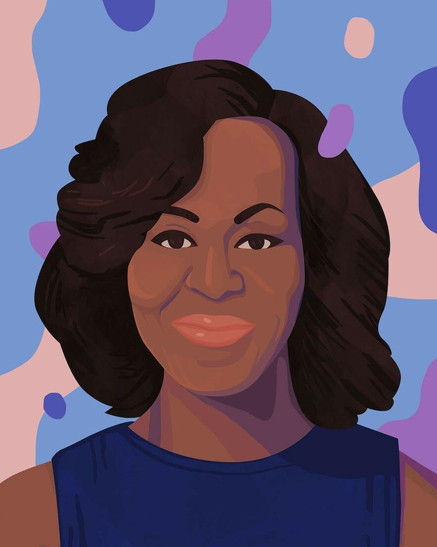 Illustration Michele Obama par Petra Eriksson