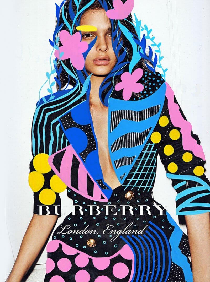 Les travaux de montage qu'a réalisé Andreea Robescu pour burberry