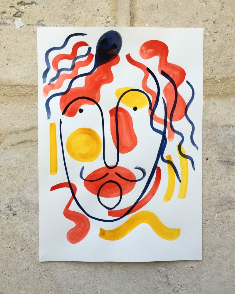 Self portrait by Carlo Amen