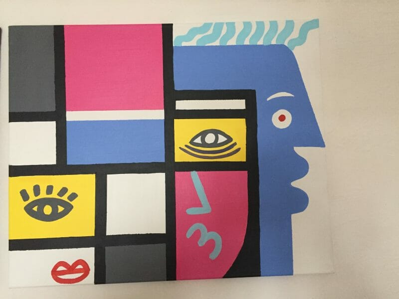 Carlo dit Amen au cubisme, portrait d'un artiste libre. 1