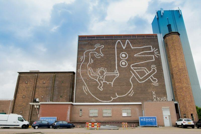 La fresque murale de Keith Haring, Amsterdam