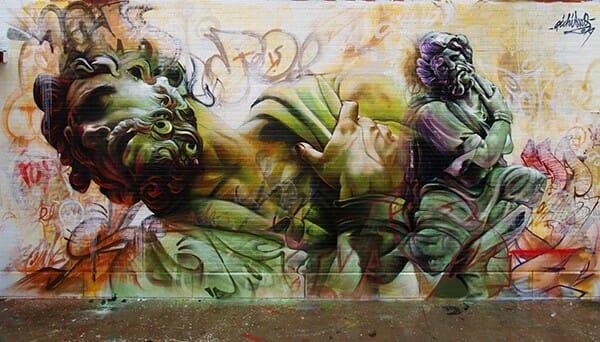 La sublime confrontation entre le classicisme et le graffiti par Pichi & Avo 3