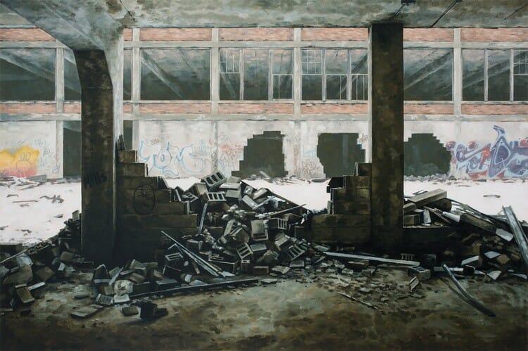Les tableaux hyperréalistes de Stephanie Buer, représentant la pratique de l'urbex