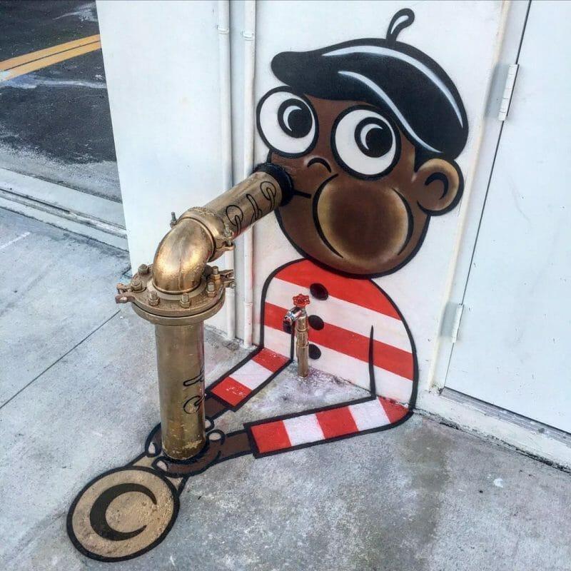 Tom Bob, street art, Charlie Parker, saxophoniste,