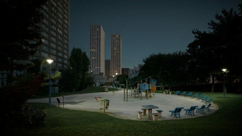 parc de jeu de nuit
