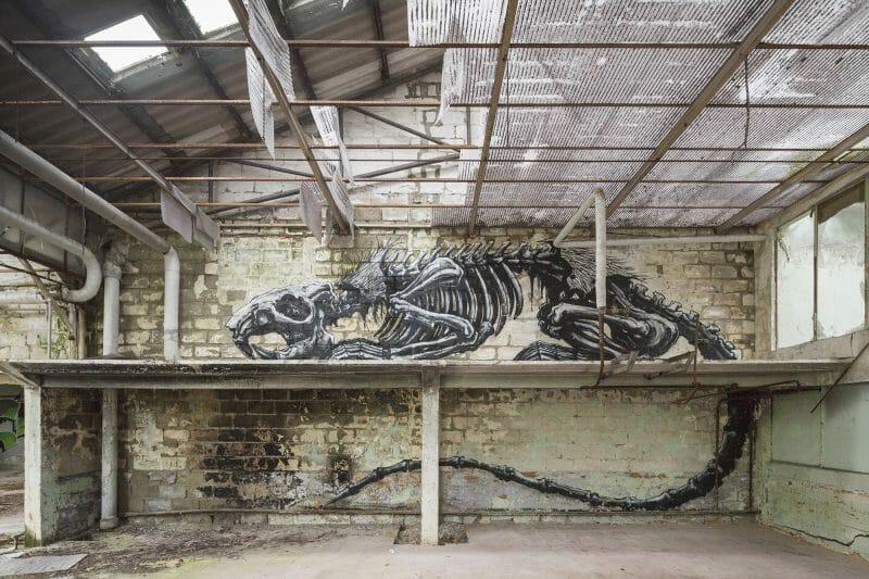 oeuvre de street art dingue