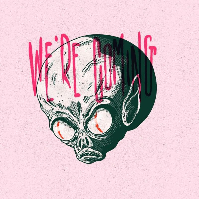 We're coming - illustration avec l'application procreate