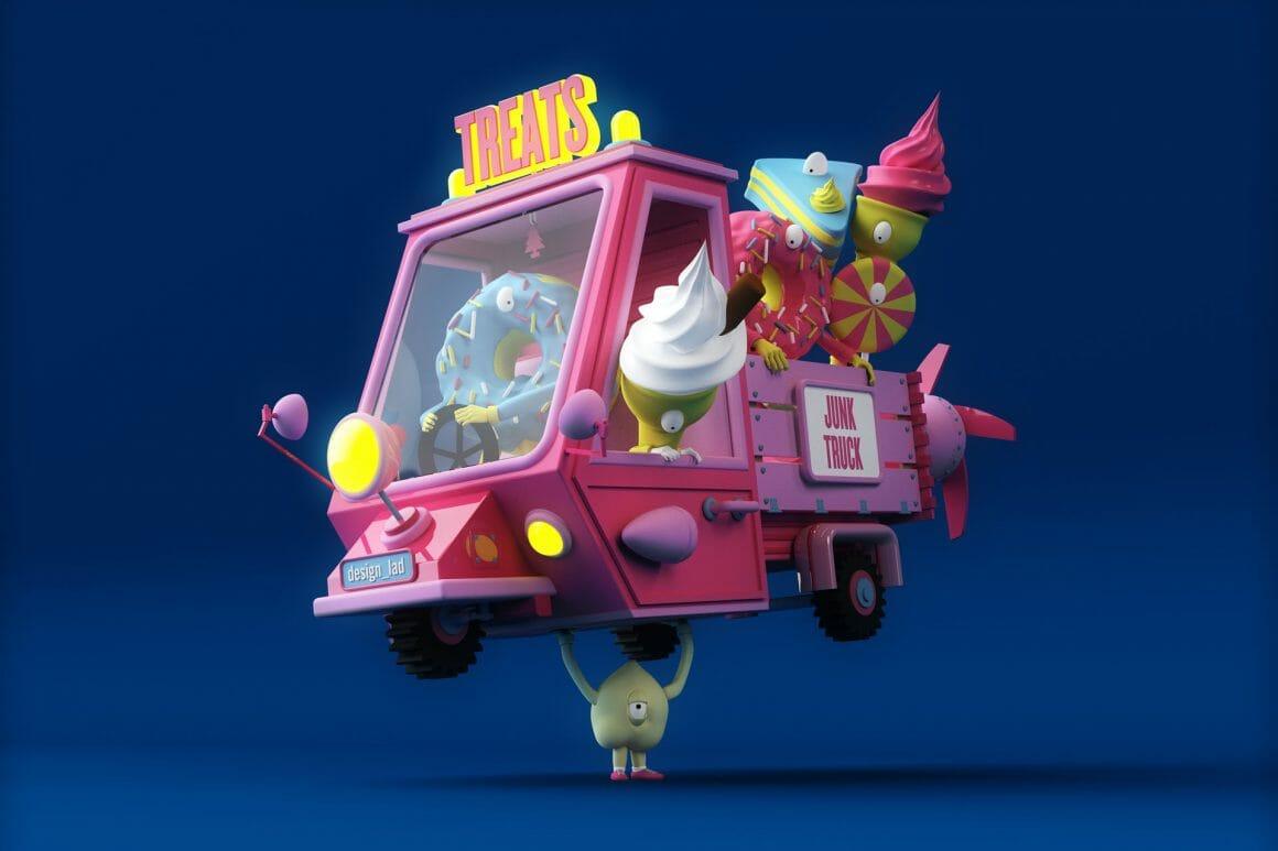 design lad aka Matt Wood vendeur de glace