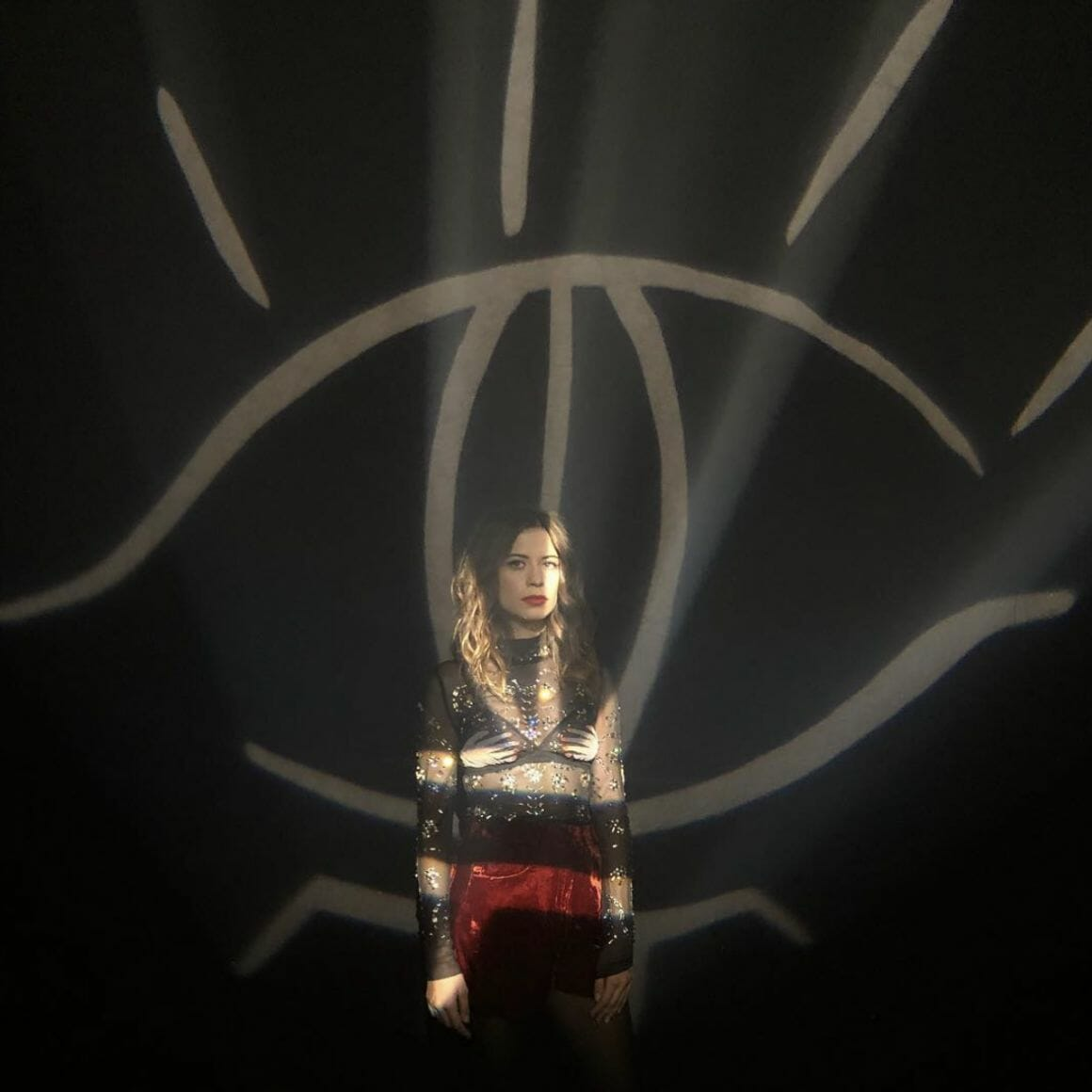 portrait de la chanteuse durant un concert