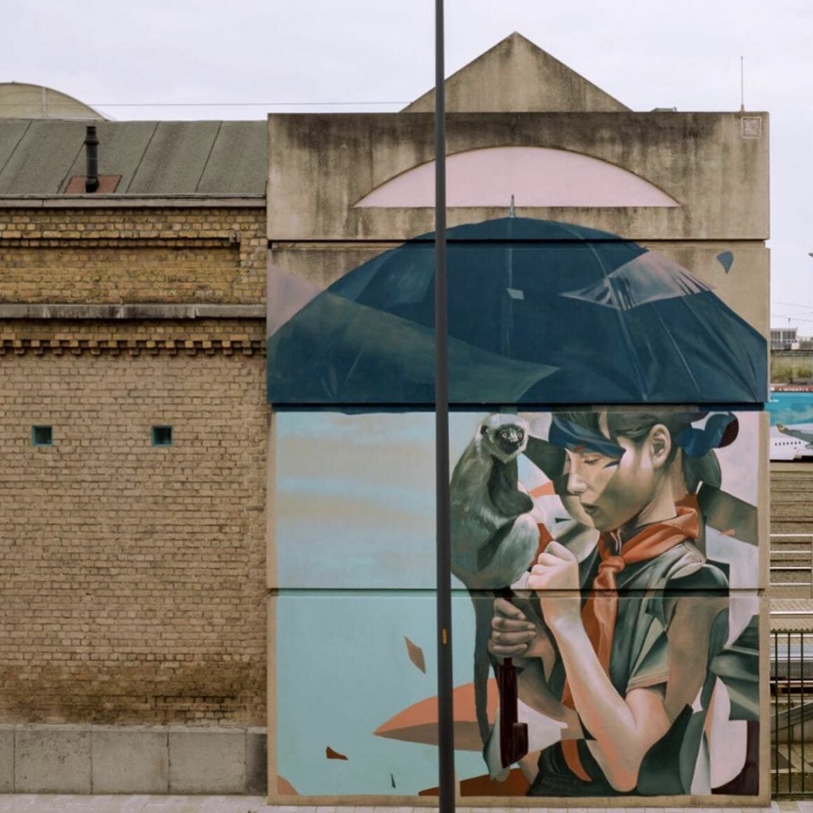 Peinture murale de du duo de street artistes Telmo Miel