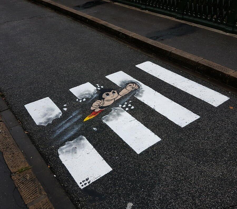 Astro Boy - peinture réalisée par OakOak