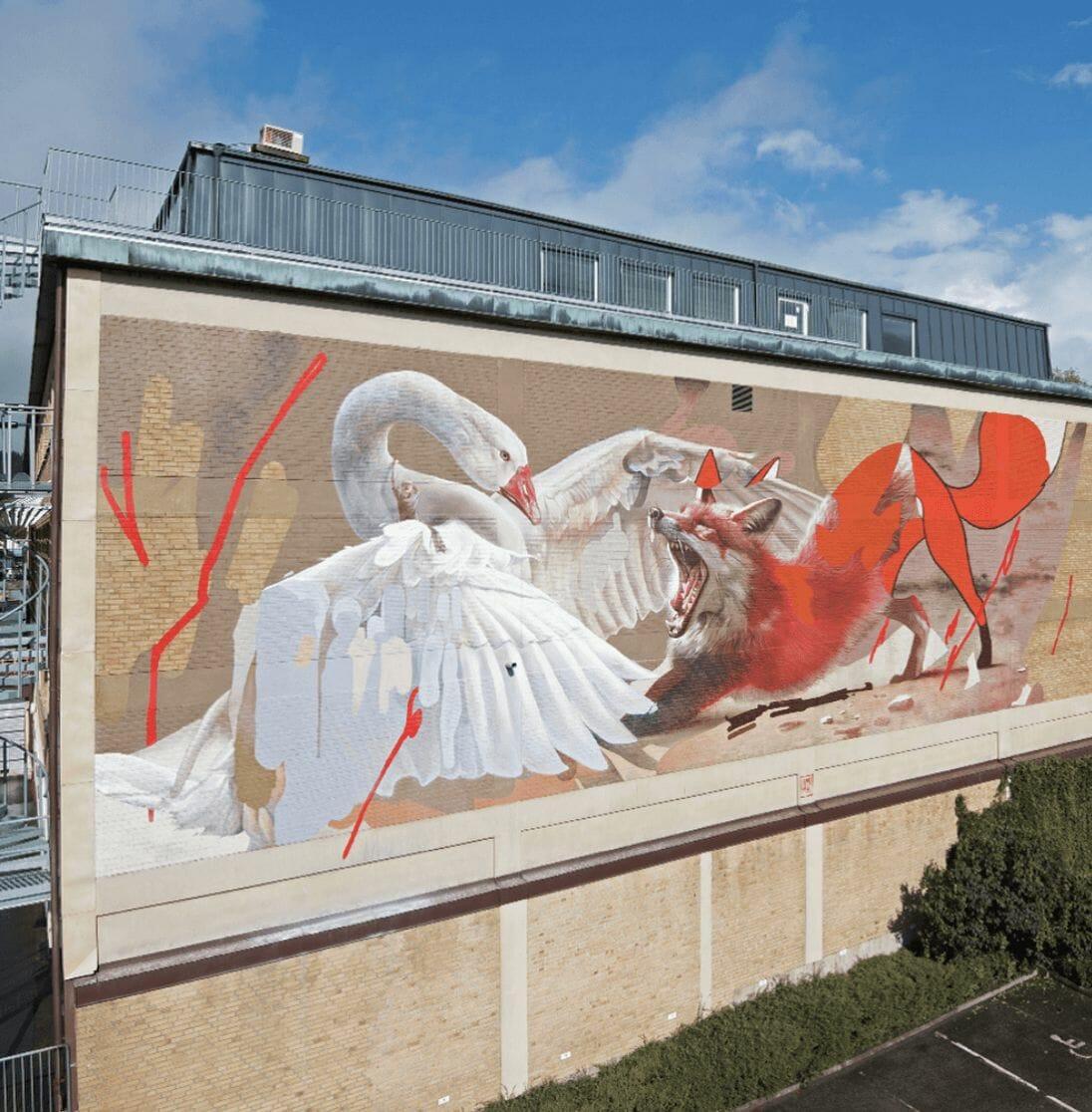 Peinture murale  avec un renard