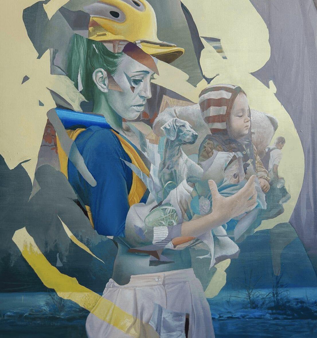 Grande fresque murale par Telmo Miel