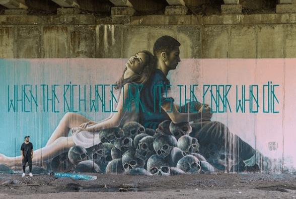 murale à kiev par Sasha Korban