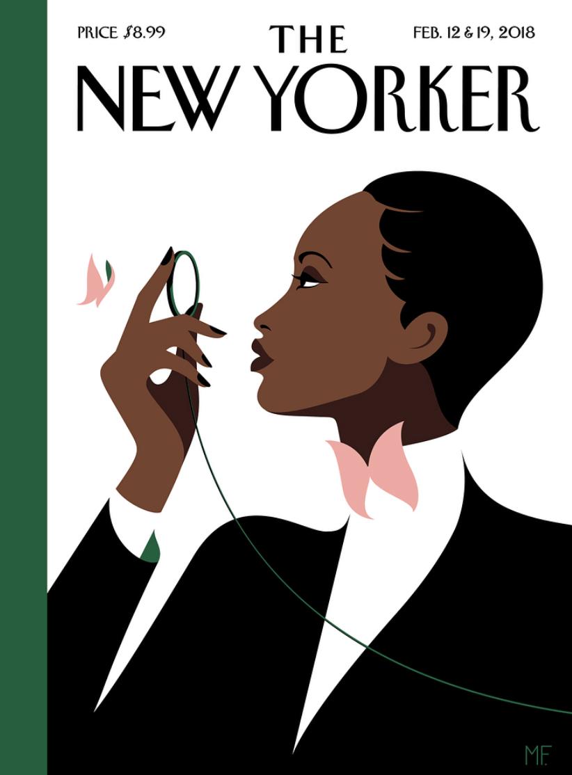 Couverture du New Yorker par Malika Favre