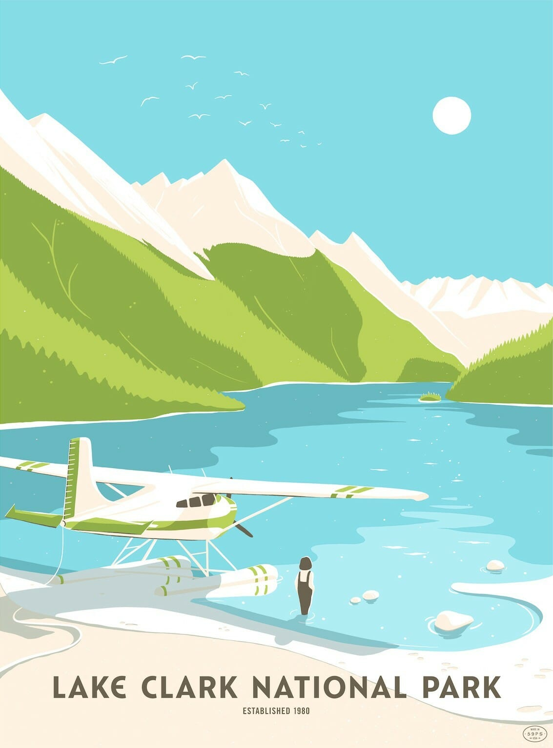 Illustration du Lake Clark par Kristen Boydstun