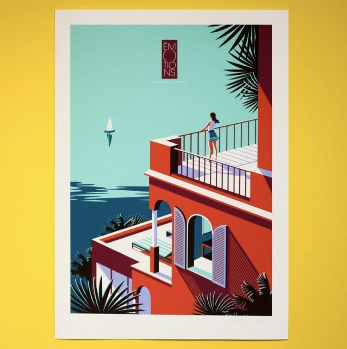 La Côte, illustration de Malika Favre