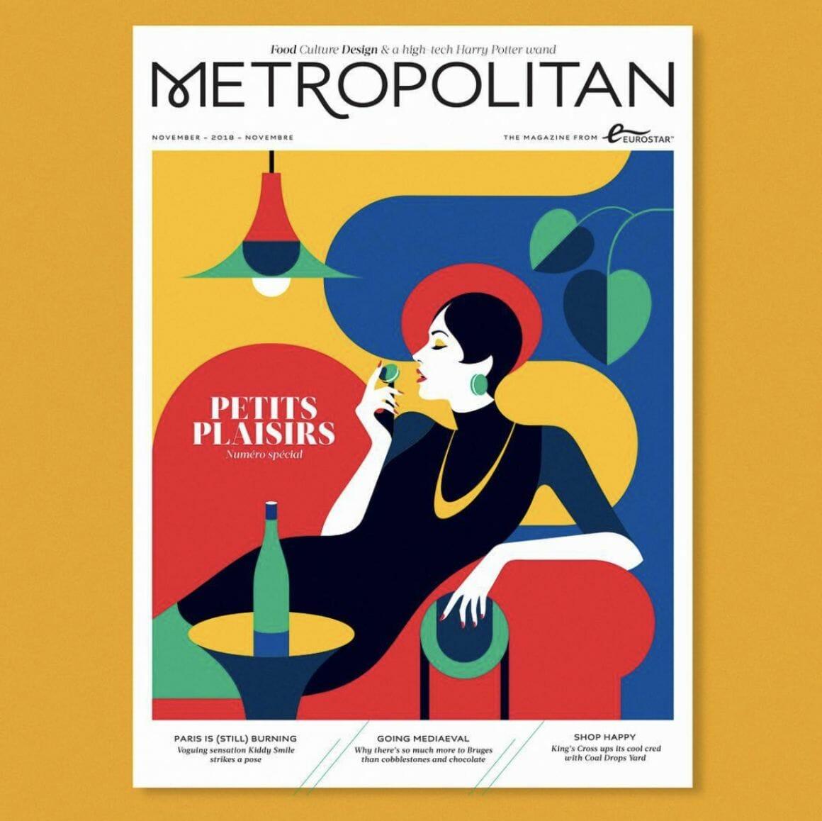 Couverture du Metropolitan par Malika Favre