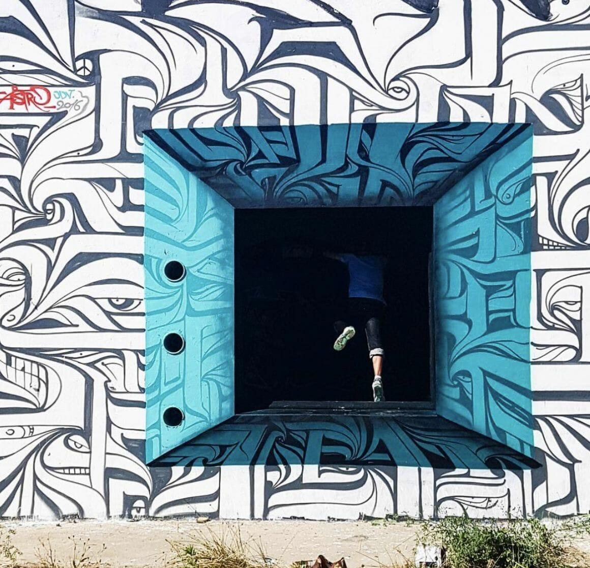 Peinture murale à Montpellier Astro