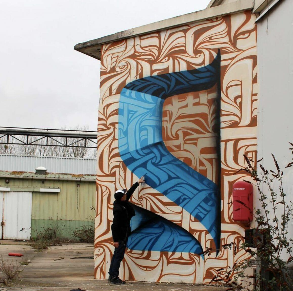 Peinture murale à Paris par Astro