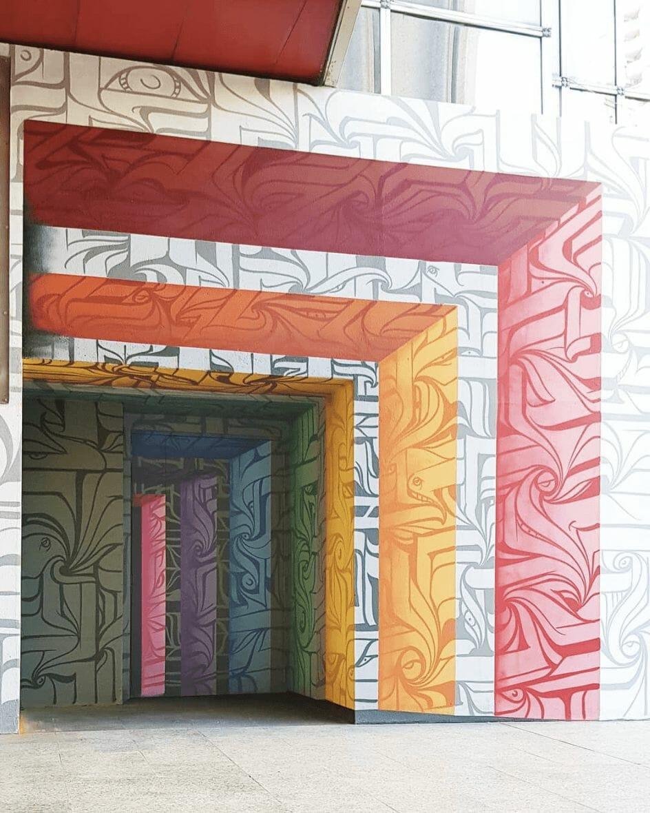 Peinture murale à Paris 13e par Astro