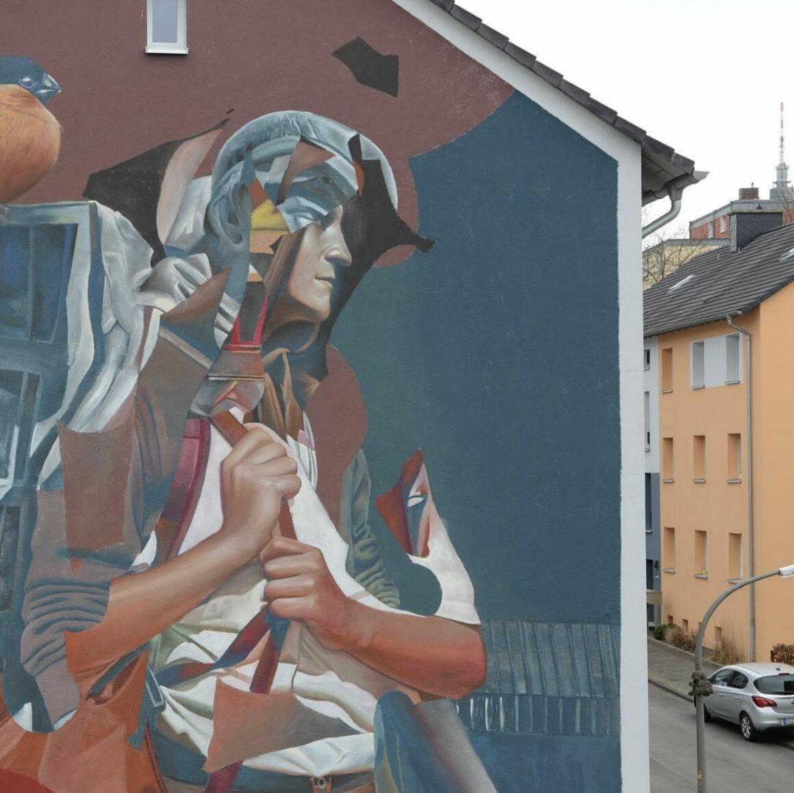 Peinture murale dans une ville Telmo Miel