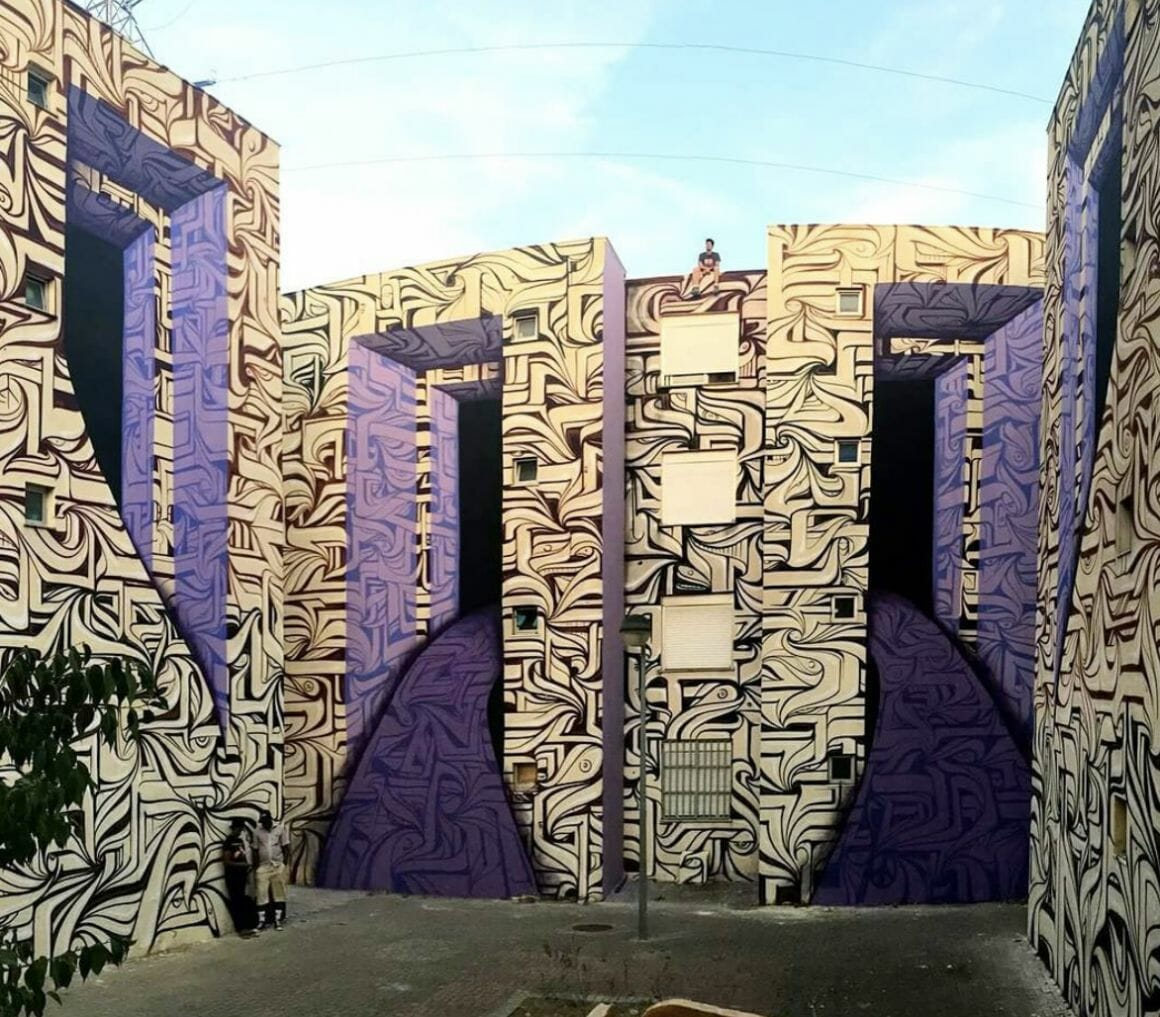 Peinture murale Portugal par Astro