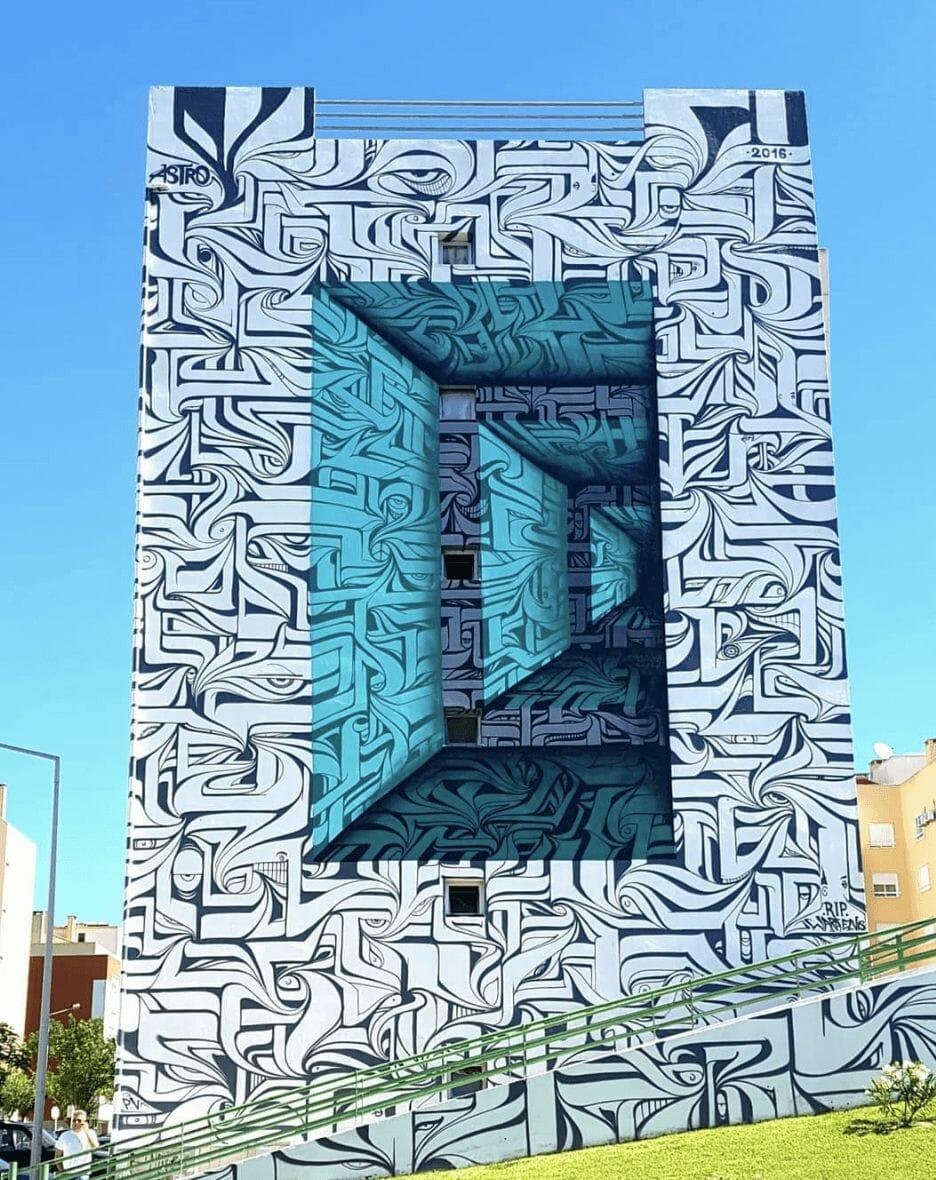 Peinture murale au Portugal par Astro